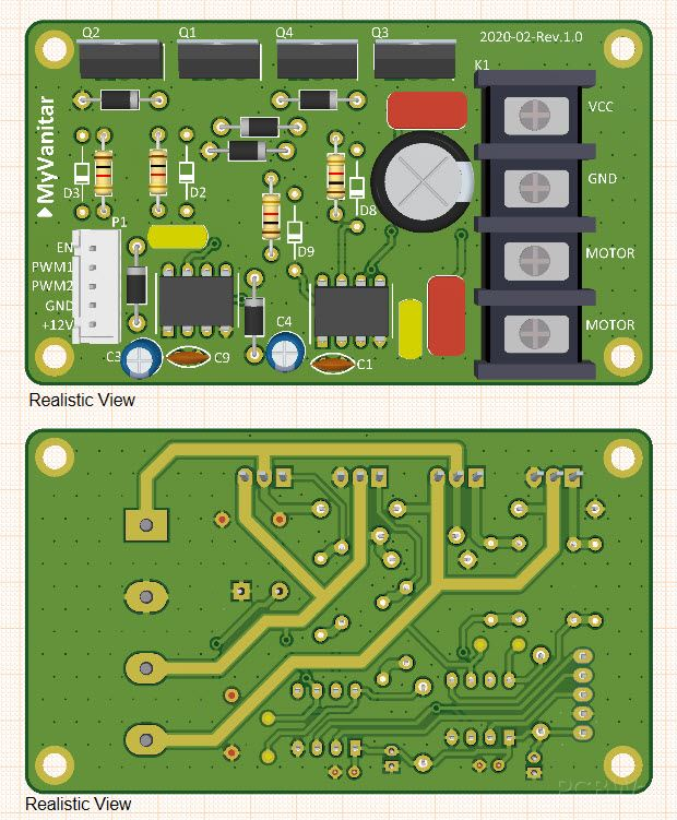 Designed PCB of speed controller