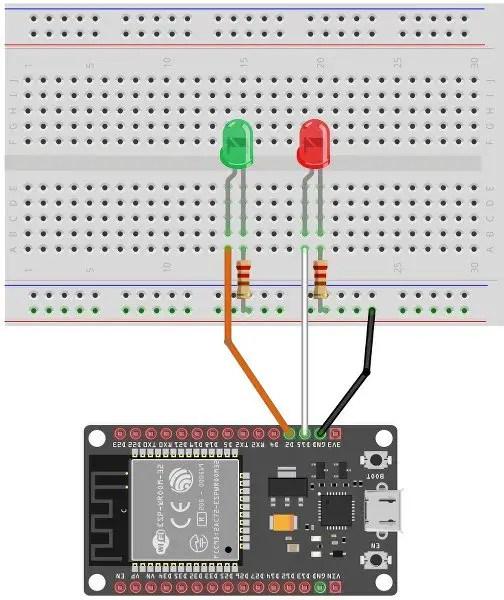 Circuit Diagram of ESP32 web server project