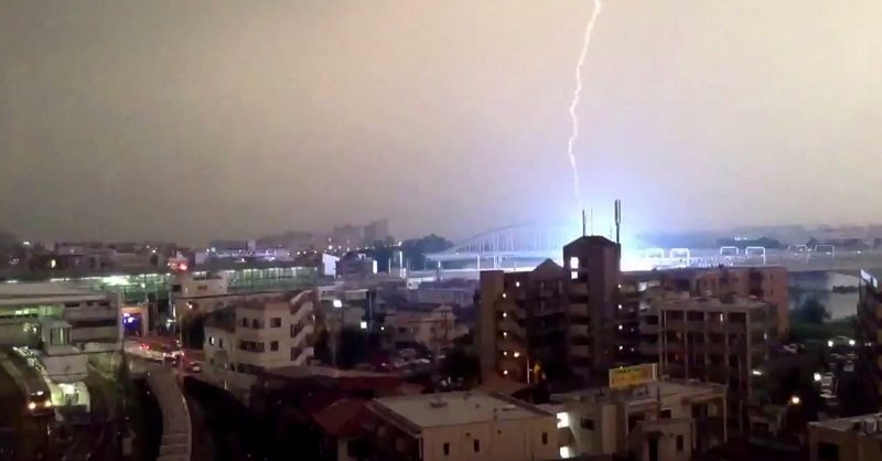 japanese train struck by lightning