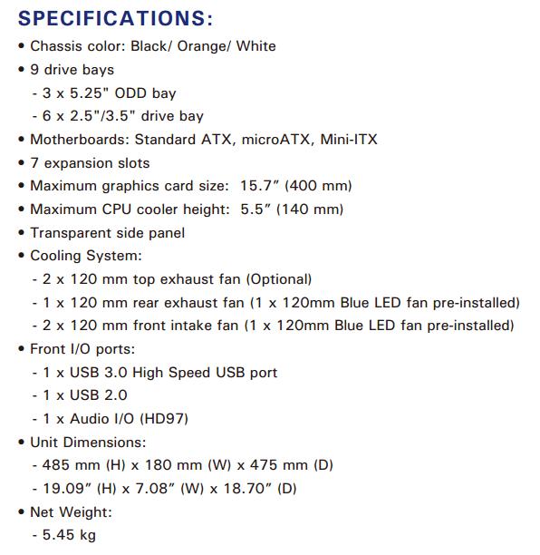 antec gx300 spec