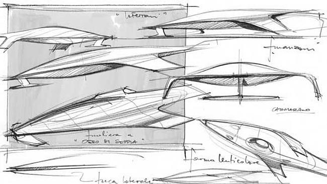 ferrari spaceship sketch