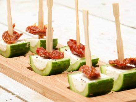 komkommerhapje met kruidenkaas
