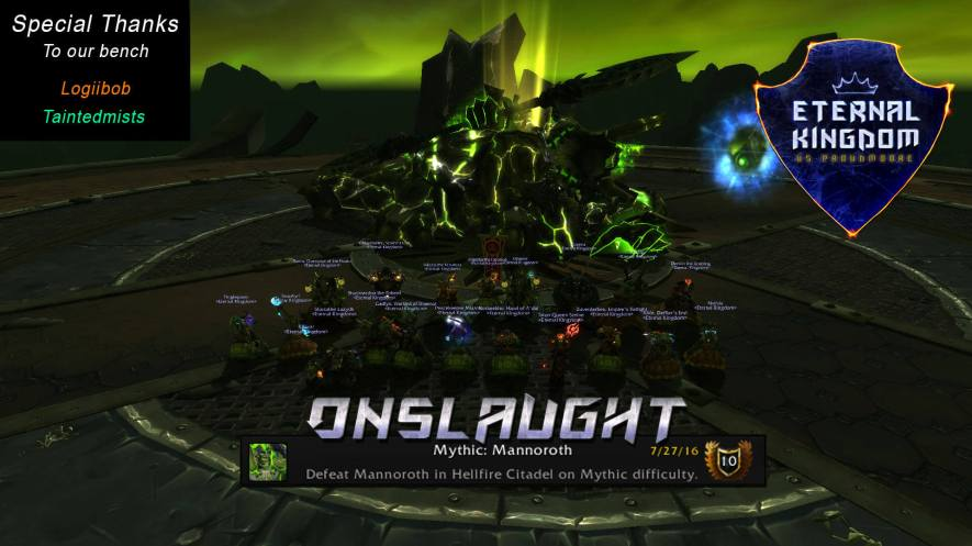 Onslaught Team Defeats Mythic Mannoroth