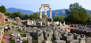 The temple of Athena at Delphi, Greece, a UNESCO World Heritage Site, Eternal Greece Ltd
