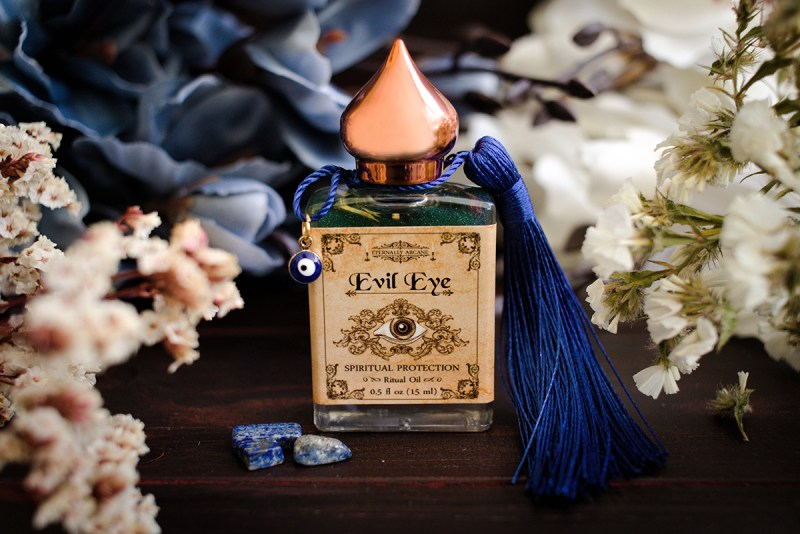 evil eye ritual witch spell oil