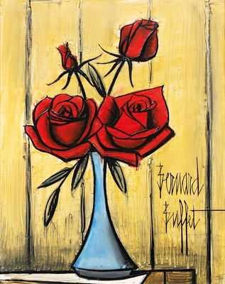 Bouquet de roses, par Bernard Buffet