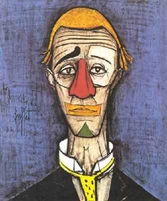 Clown jaune, par Bernard Buffet