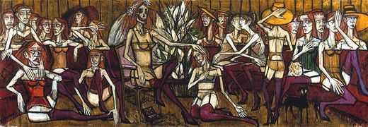 Les folles et la mariée, par Bernard Buffet