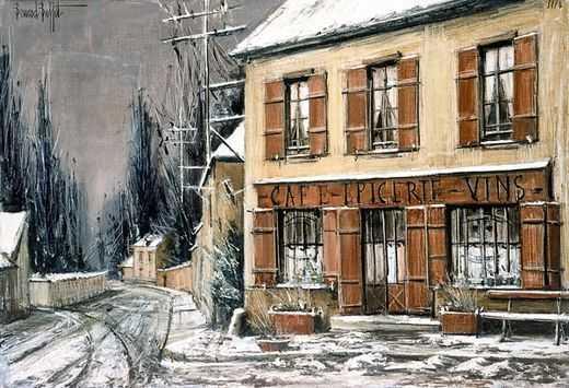 Les Mesnuls, la route de Chevreuse, par Bernard Buffet