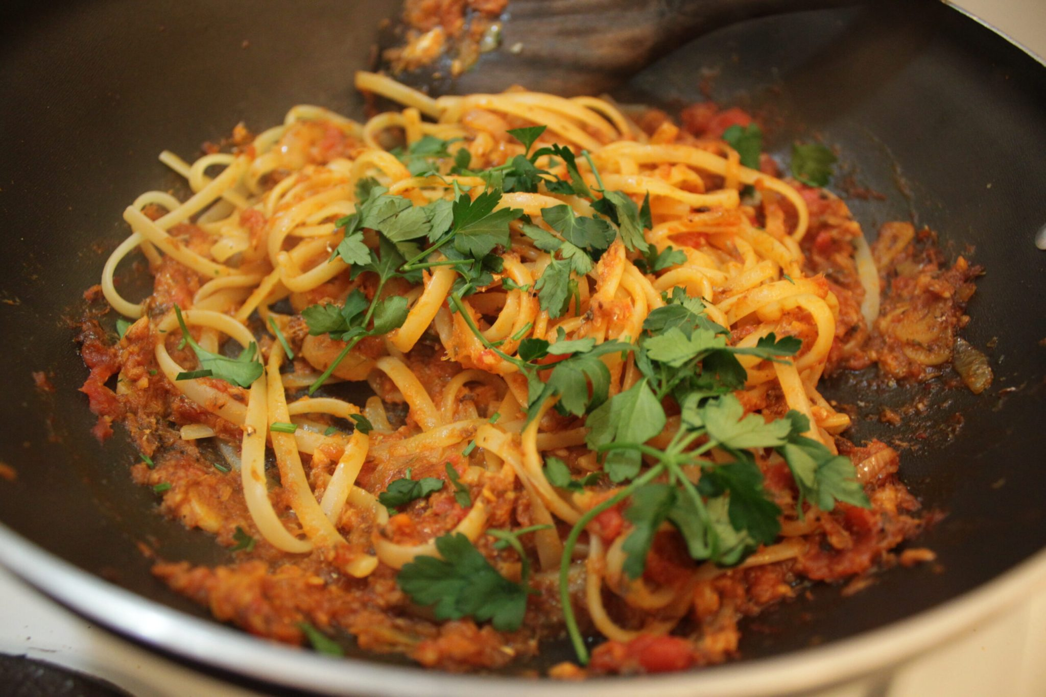 Spicy Tomato Sardines Pasta Recipe