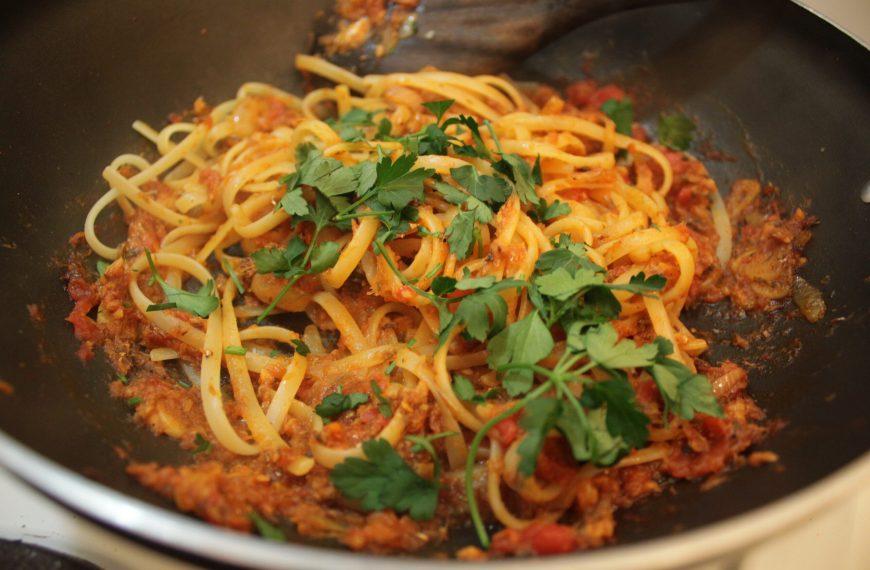 Spicy Tomato Sardines Pasta Recipe