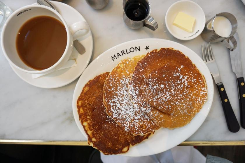 American Pancakes at Marlon Restaurant, Paris