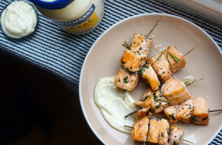 Hellmann's Rosemary Fish Skewers Recipe