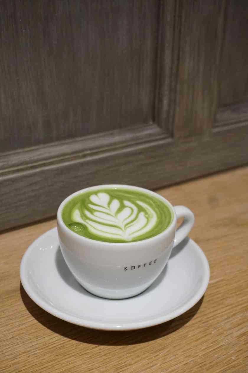 Matcha Latte at Omotesando Koffee Hong Kong