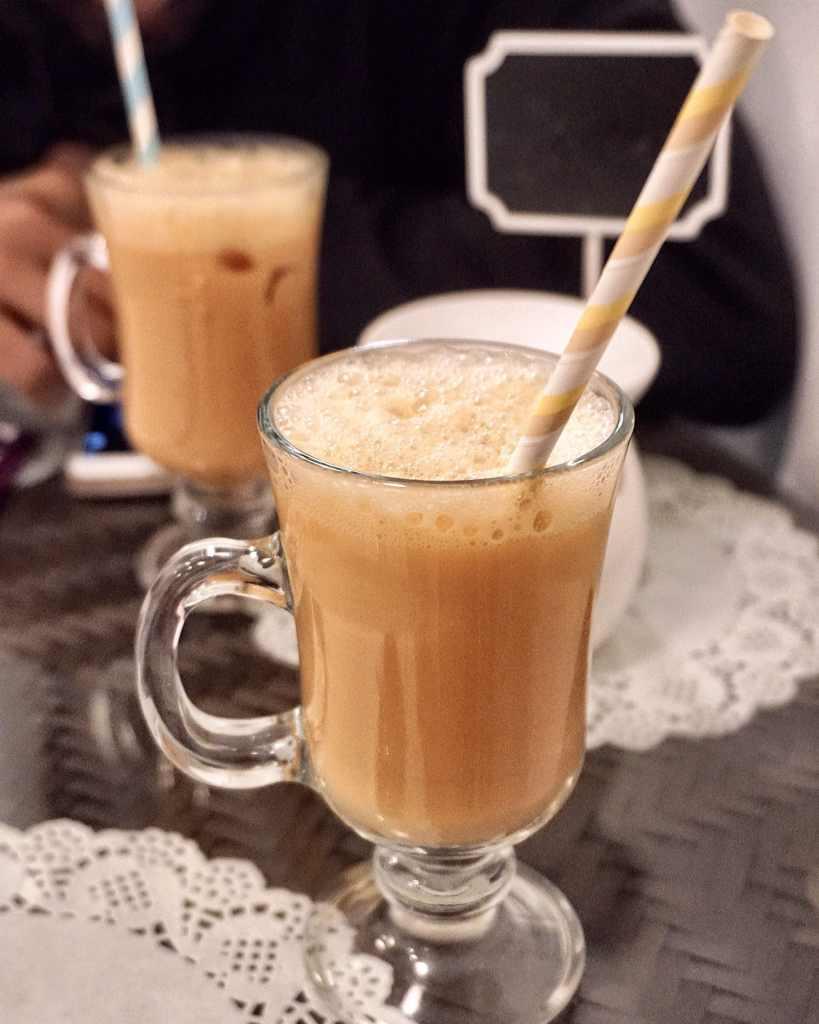 A cup of Teh Tarik (Malaysian Milk Tea) at Normah's