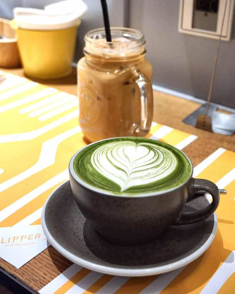 Matcha Latte at Flipper's Hong Kong
