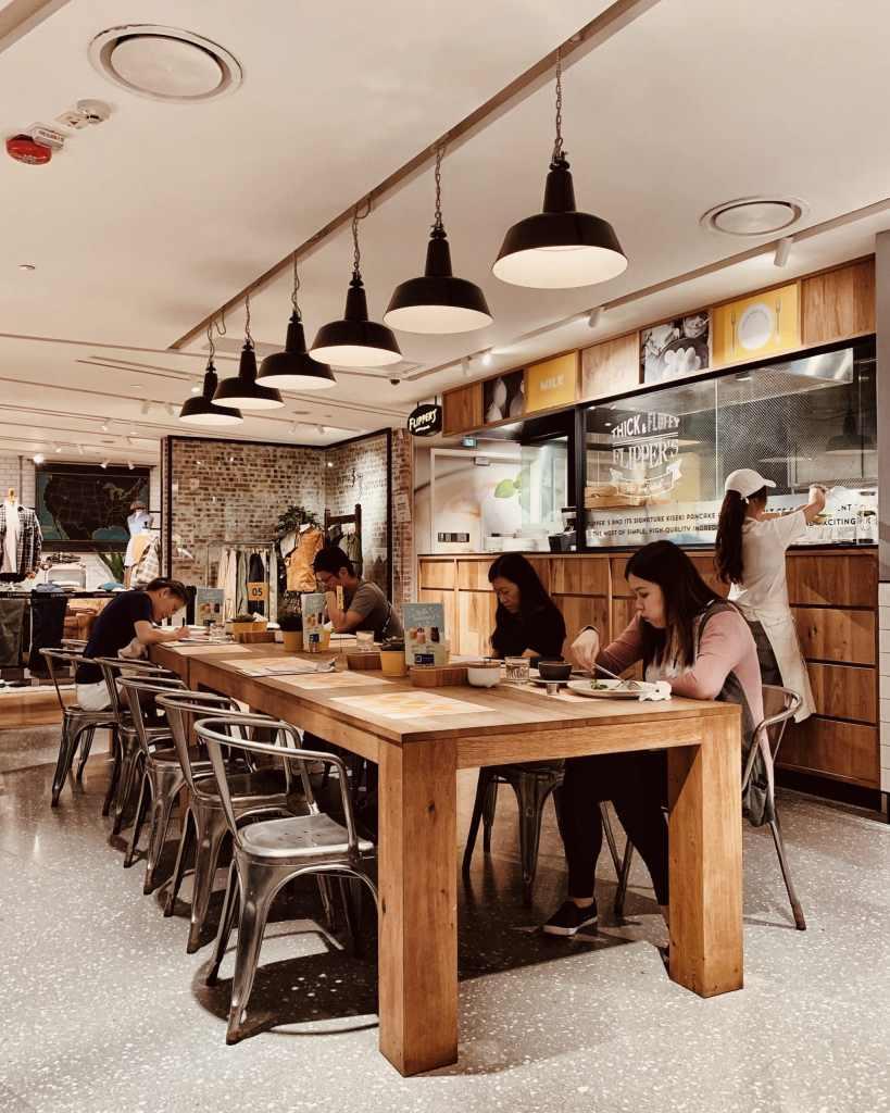 Restaurant interior of Flipper's Hong Kong