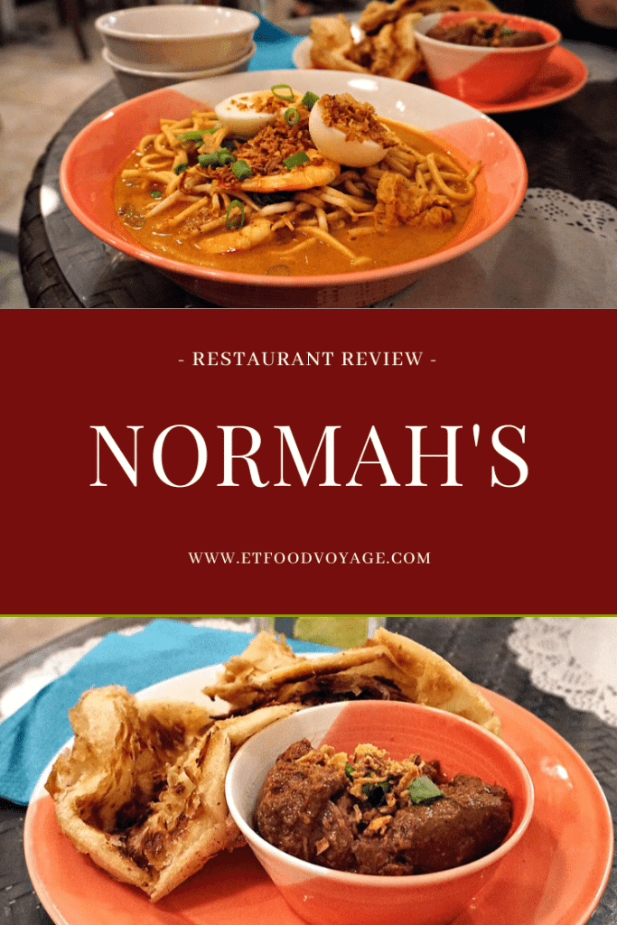 Restaurant review of Normah's