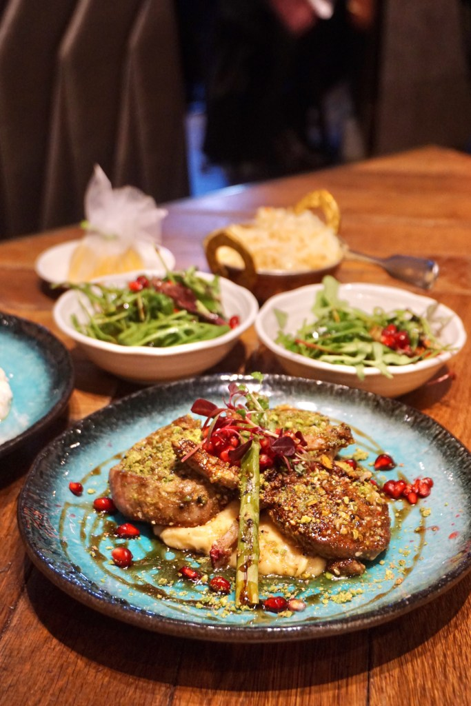 Pistachio-crusted Lamb Chops at The Mantl, London