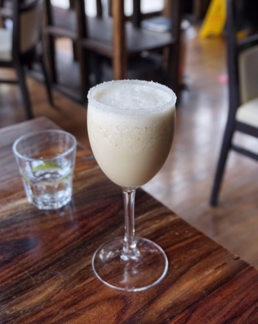 Image of a glass of Cozumel mocktail at Mestizo Restaurant