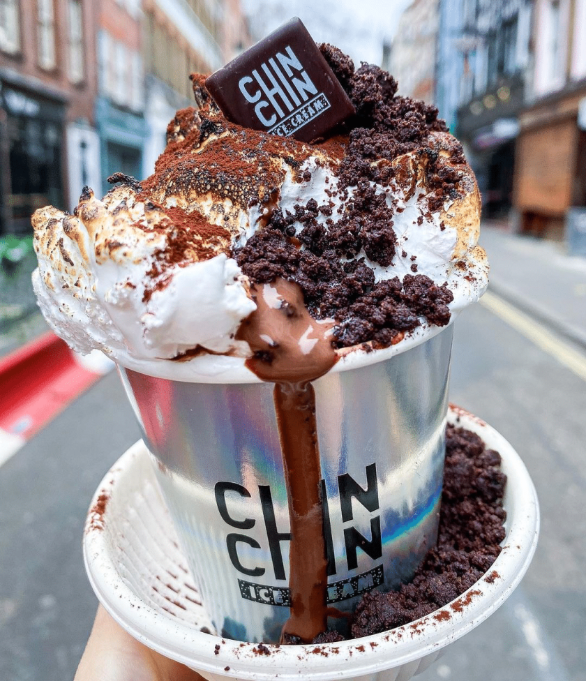 Chin Chin Labs Signature Hot Chocolate with Marshmallow topping