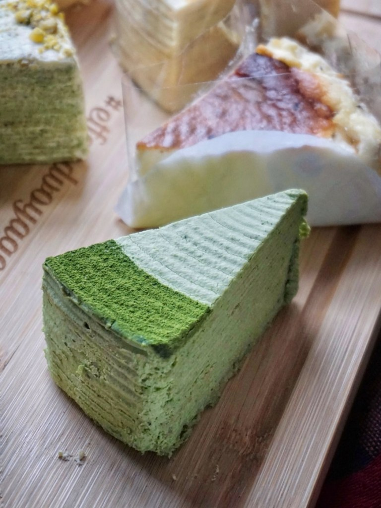 Matcha Mille Crepe Cake by Sakurado London