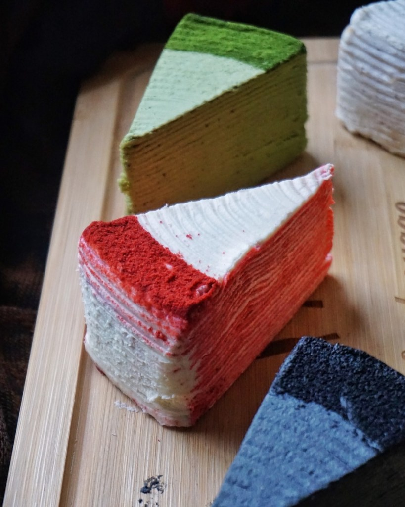 Red Velvet Mille Crepe Cake by Sakurado London