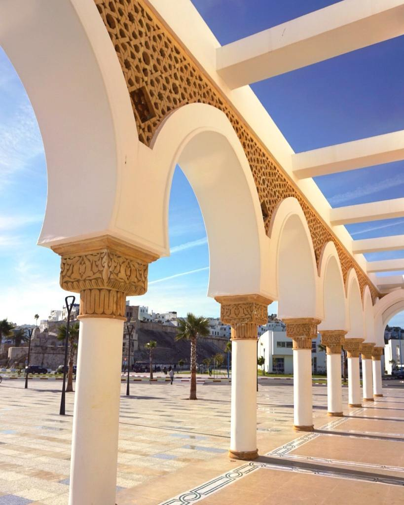 Golden Arches of the Masjid Al-Minaa of Tangier, Morocco