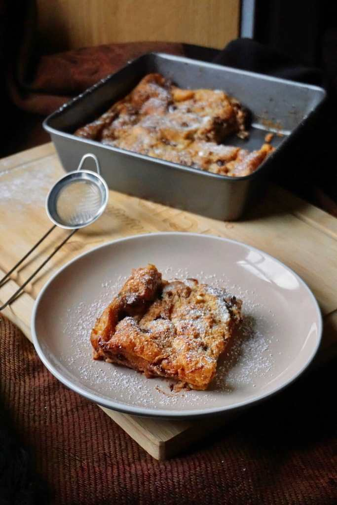 Pain Au Chocolat Bread and Butter Pudding