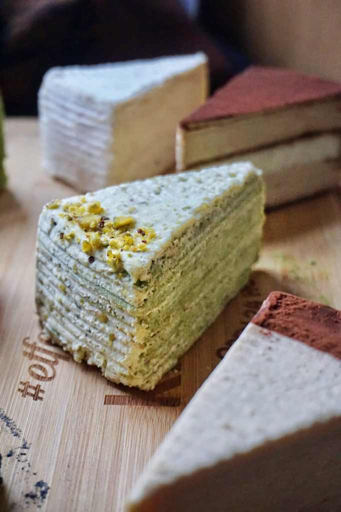 Pistachio Mille Crepe from Sakurado London