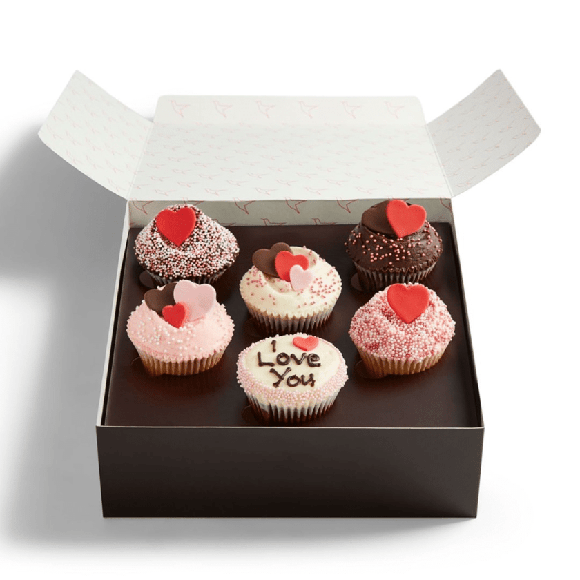 Valentine's Day cupcakes from Hummingbird Bakery