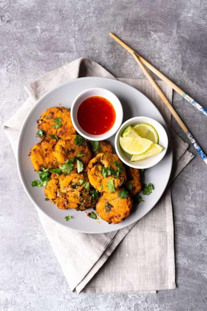 Air Fryer Breaded Salmon Fish Cakes