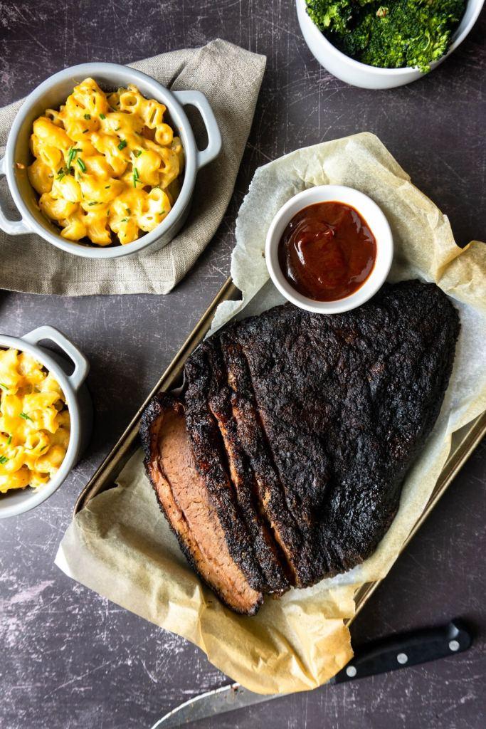 Smoke & Bones Beef Brisket and Homemade Mac & Cheese