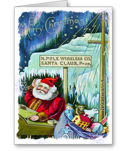 TNT North Pole Wireless Company Christmas Cards