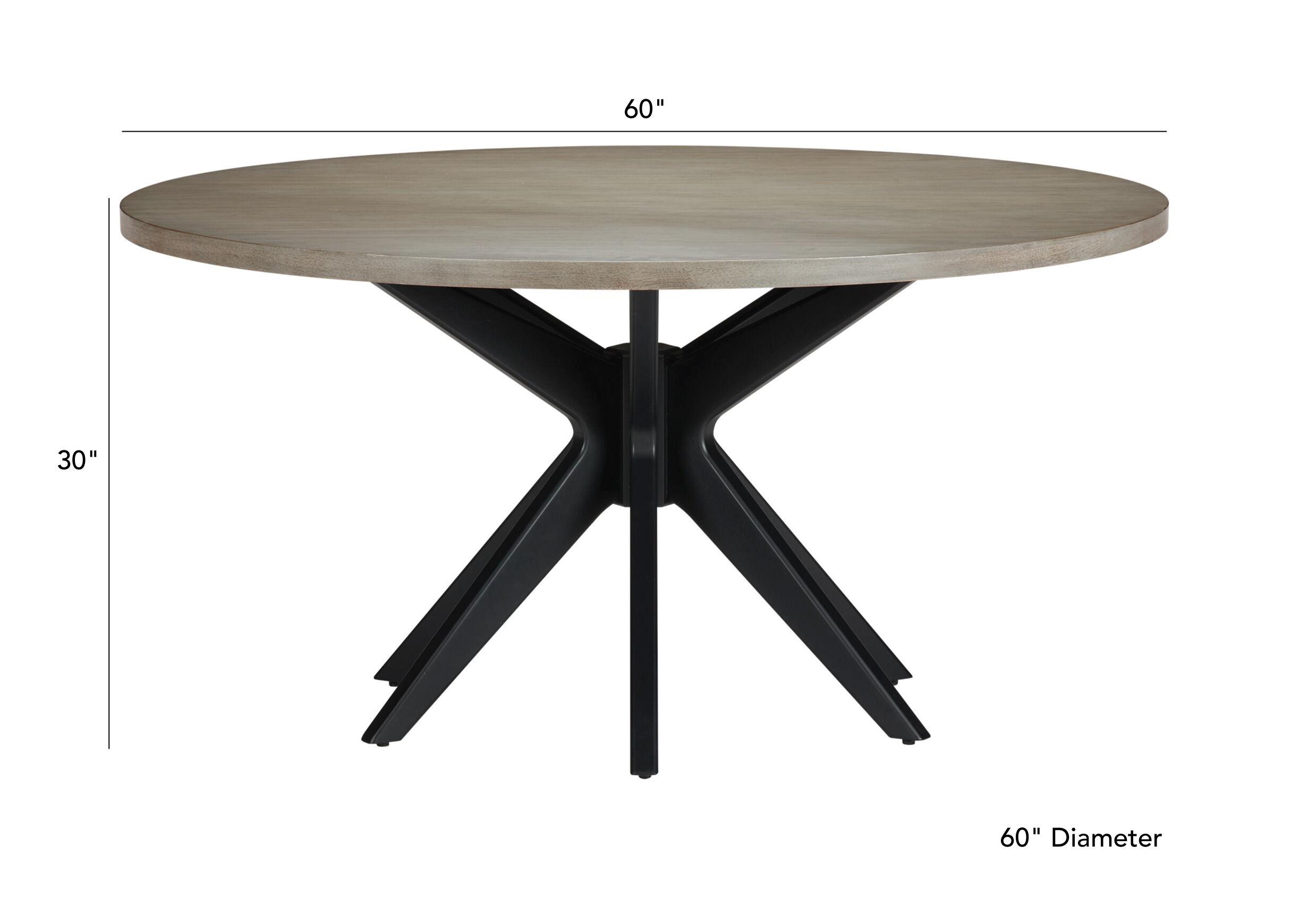 Hazelton Midcentury Modern Round Dining Table Ethan Allen