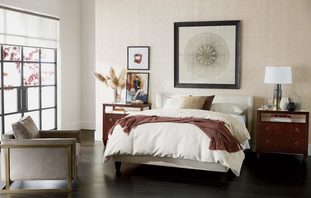 neutral bedroom plum cream bedroom
