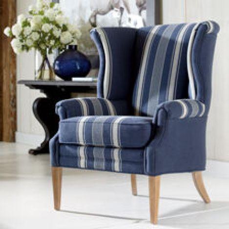 Brynn Indigo Swivel Chair