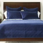 Gresham Navy Velvet Coverlet And Shams Quilts Comforters Ethan Allen