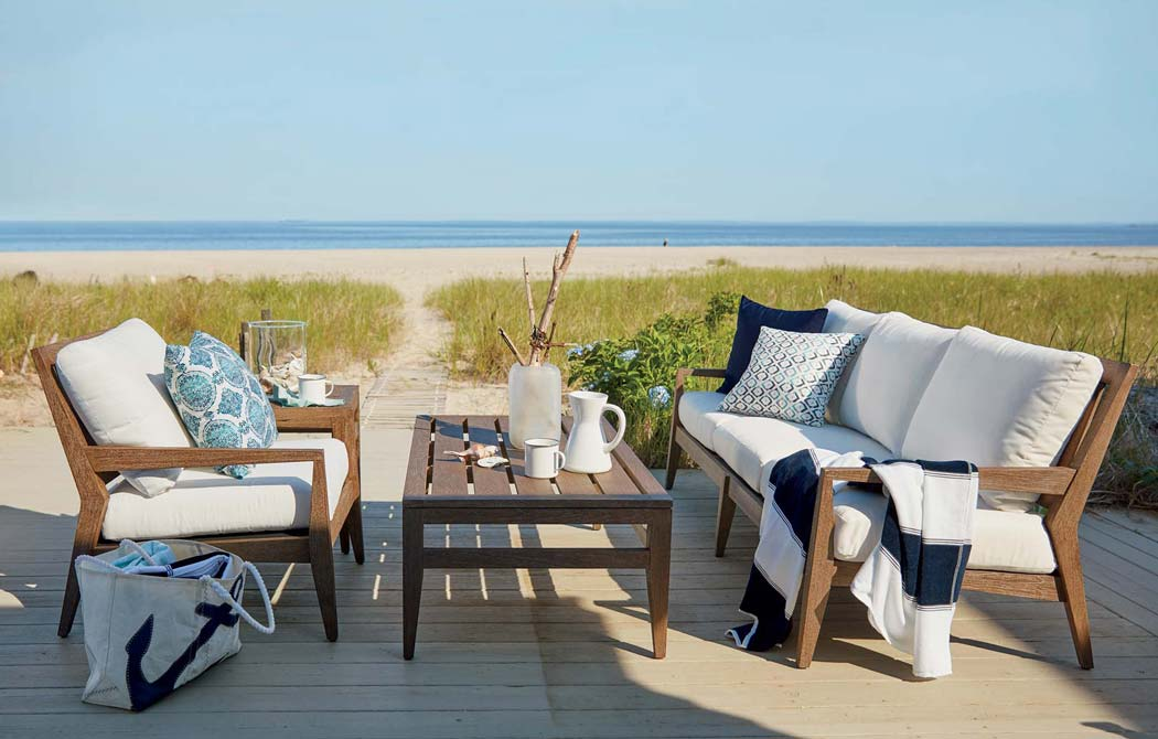 outdoor living room by the beach