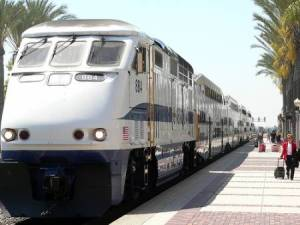 Metrolink commuter train in action