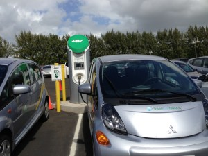 Fast charger at the Kauai Hyatt -- bought for with stimulus money but installed and operated by the hotel