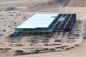 The Tesla Gigafactory under construction