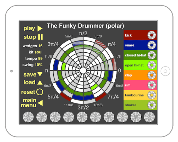 Funky Drummer math mode - polar