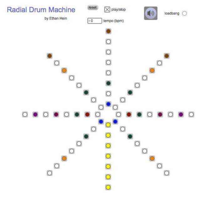Radial dots
