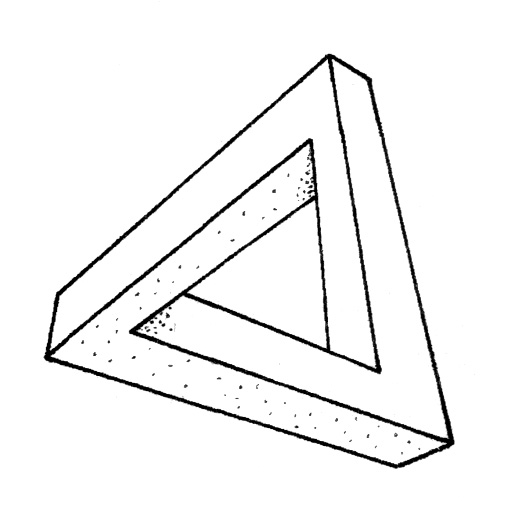 Roger Penrose - impossible triangle