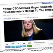Yahoo! forbids staff from working from home. Countertrend or just plain stupid?