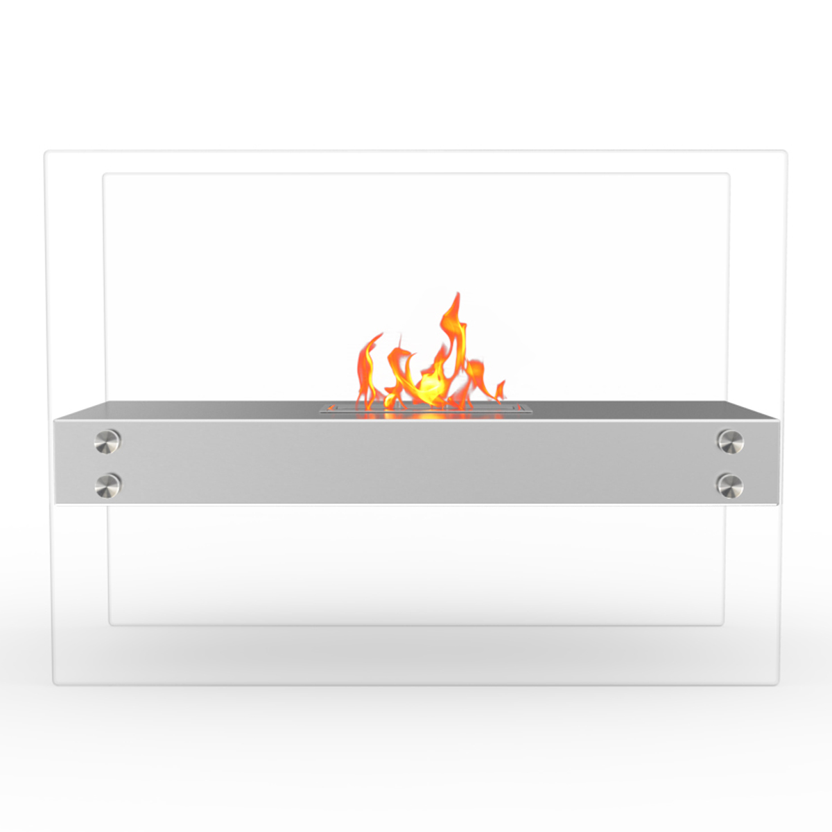 Ionic Ventless Free Standing Ethanol Fireplace In