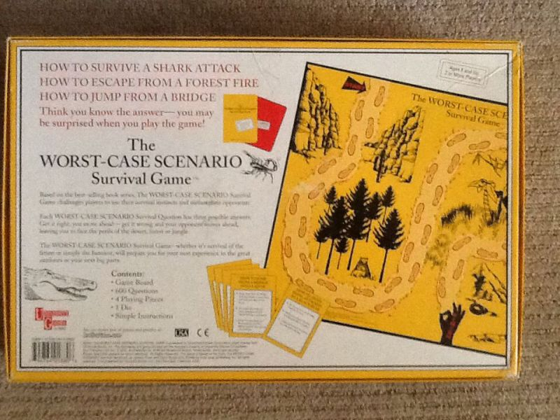 The Worst Case Scenario Survival Game Board Game   University Games     The Worst Case Scenario Survival Game Board Game   University Games  Trivia   back
