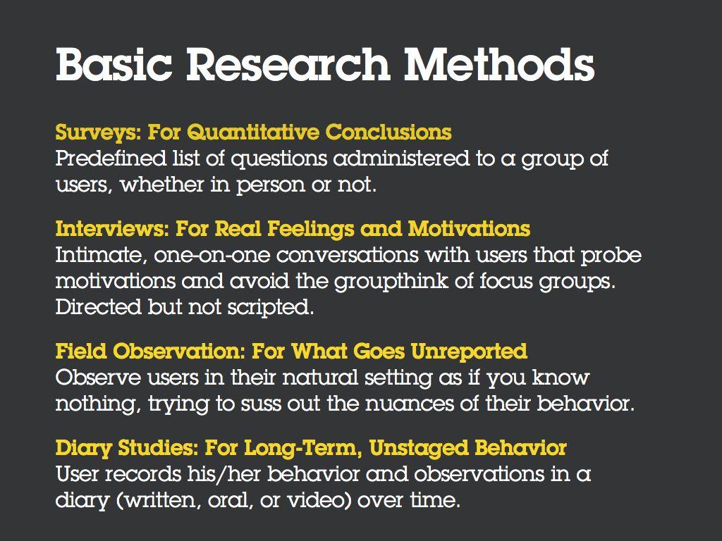 User Research Workshop Key Slides Amp Notes