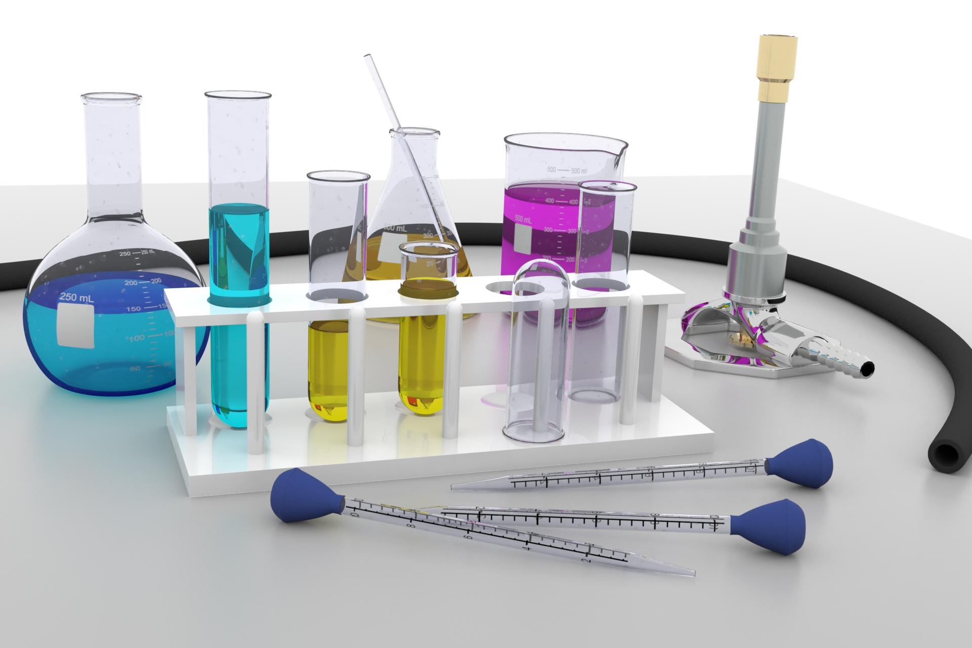Chemistry Lab Equipment Ethereal 3d